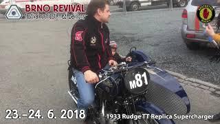 1933 Rudge TT Replica Supercharger Sidecar Video
