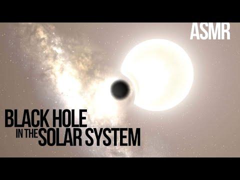 A Black Hole in the Solar System | ASMR (Universe Sandbox)