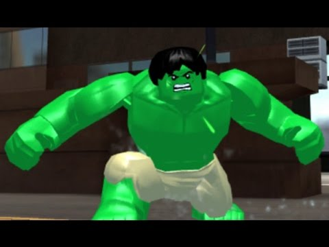 LEGO Marvel's Avengers (Vita) – Open World Free Roam Gameplay (Hulk Super Jumping)