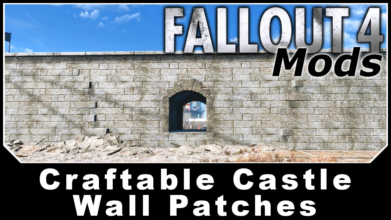 Image result for Craftable Castle Wall Patches fallout 4 mods