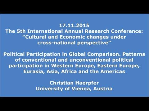 17.11.2015: Christian Haerpfer: Political Participation in Global Comparison