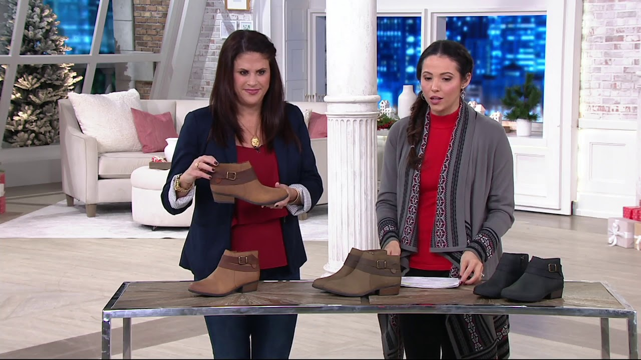 68cb6399c4d Clarks Leather Side Zip Ankle Boots - Addiy Cora on QVC - YouTube