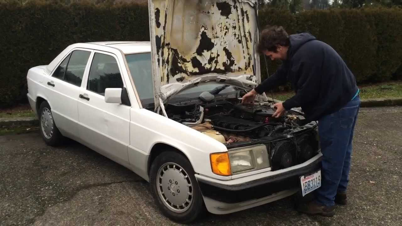 buying a cheap mercedes part 2 w201 190e getting the engine started youtube [ 1280 x 720 Pixel ]