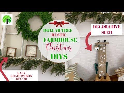 DOLLAR TREE FARMHOUSE CHRISTMAS DIY⛄RUSTIC DECOR