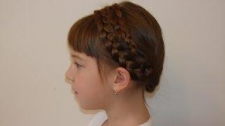 Забавная причёска из кос за 5 минут, Детские причёски. Hair tutorial