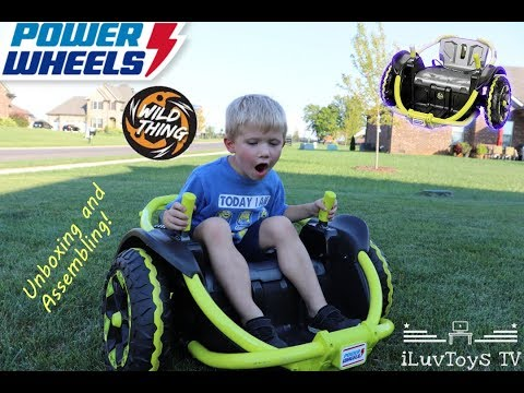Funny Jacob Ride On And Assemble Power Wheels Wild Thing !