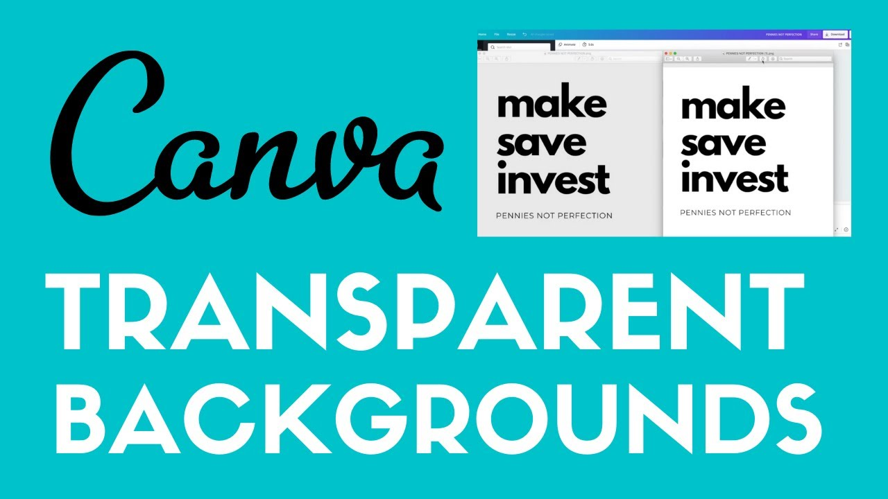 How To Create Transparent Backgrounds In Canva | Canva Tutorial For Beginners