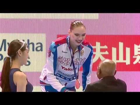 Российская синхронистка С.Колесниченко завоевала золото на чемпионате мира по водным видам спорта.