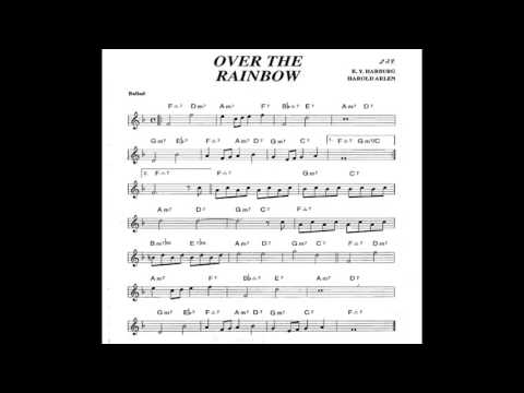 Over the Rainbow - Play along - Backing track (Bb key score trumpet/tenor sax/clarinet)