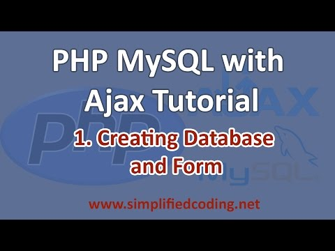 PHP MySQL with AJAX Tutorial