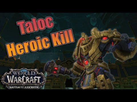 Battle for Azeroth - Heroic Uldir Taloc Kill! Affliction Warlock POV!