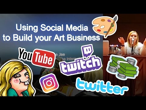 Using SOCIAL MEDIA to build your ART BUSINESS - Panel at San Japan