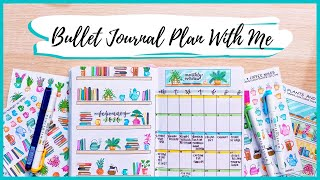PLAN WITH ME || February 2020 Bullet Journal Setup