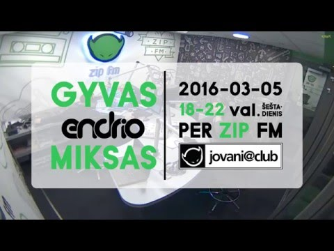 Endrio - Jovani @ Club 2016 March Mix Live From ZIP FM Radio Station