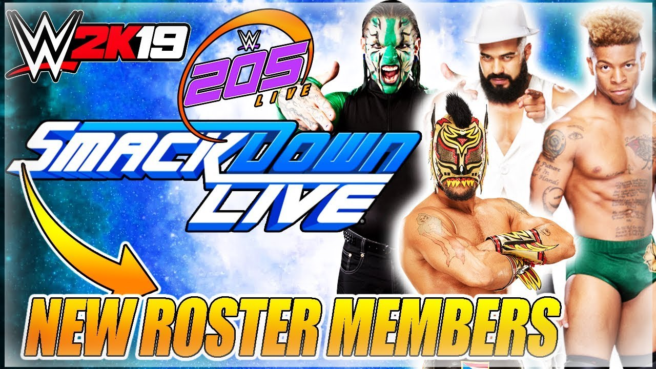 WWE 2K19 NEWS: ROSTER REVEAL PART 2 UPDATE - SMACKDOWN LIVE & 205 LIVE NEW  ROSTER PREDICTIONS