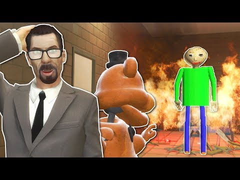 BALDI'S BASICS SCHOOL OF HORROR! - Garry's Mod Gameplay - Gmod Dinosaur Survival