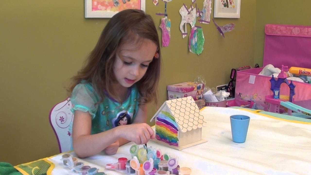 DIY Rainbow Bird House: Kids Art Project