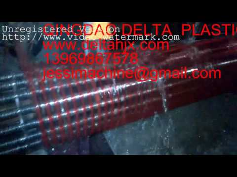 PVC spiral pipe line