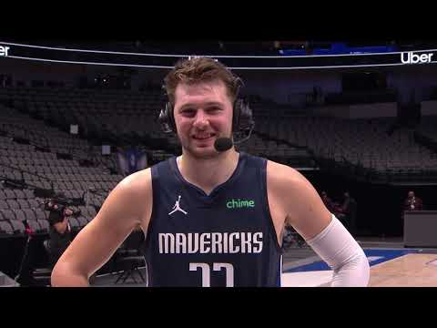 """Luka Jokes """"I Couldn't Make It In The Pool"""" When Talking 3PT Shooting Struggles"""