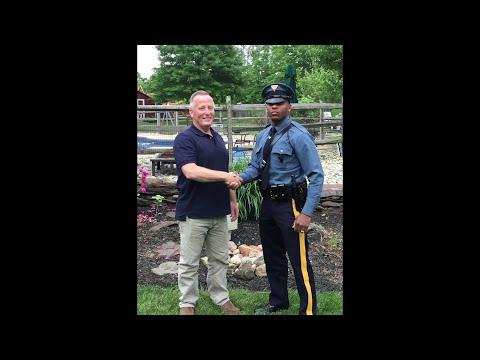 Traffic Stop Reunites Man Who Delivered Officer