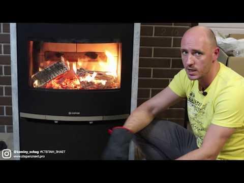 Видео обзор печи камина в теплонакопительном камне. Современное отопление дачи