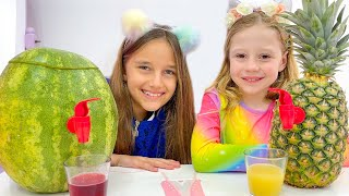 Nastya with Yummy Fruits and Vegetables and other stories for kids