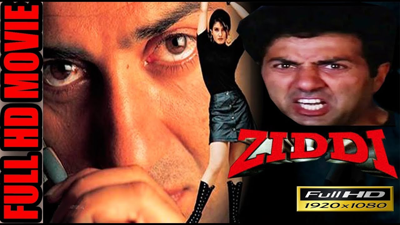 Ziddi (1997), Full Movie, Sunny Deol, Raveena Tandon, Bollywood Latest Movies, Bollywood Movies