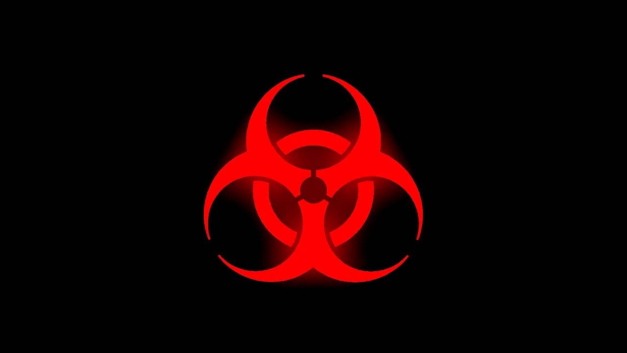 Glowing Biohazard Symbol Red Youtube
