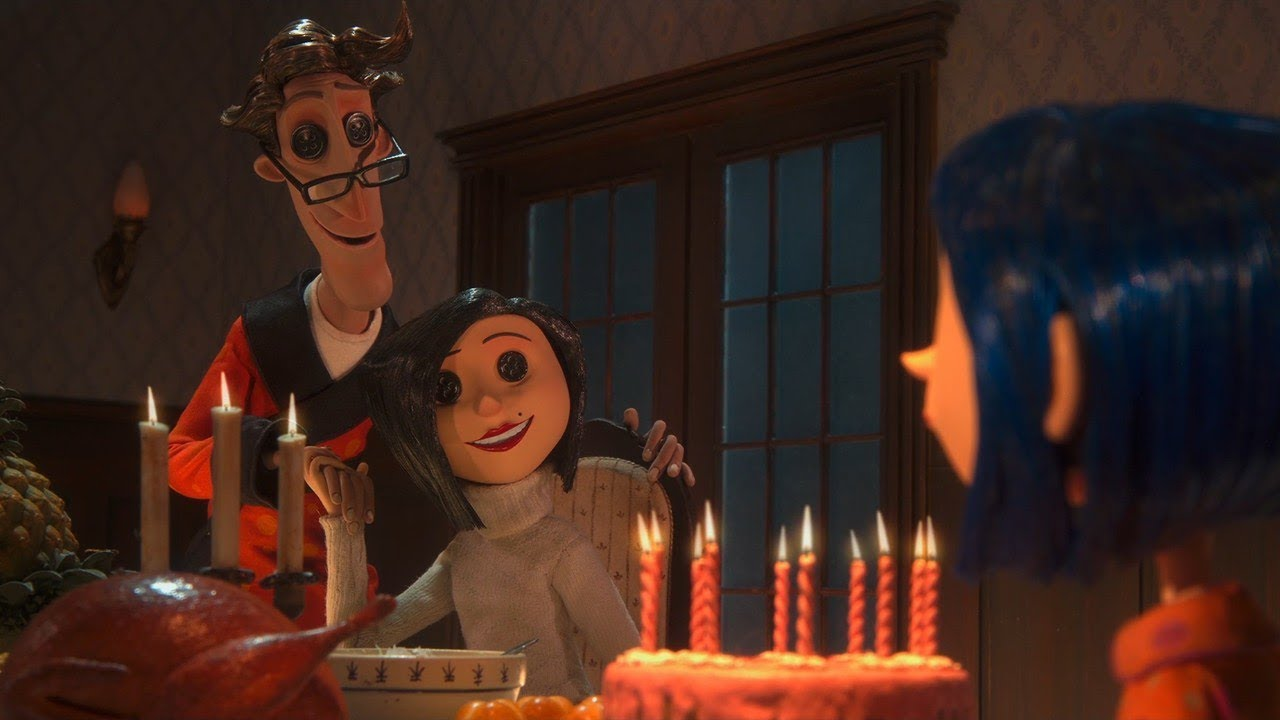 Coraline Dinner Scene Hd Clip Youtube