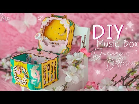 DIY Music Box ⌈Dancing Ballerina⌋ + Giveaway ended  || Robotime  💖