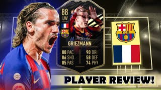 HE'S INSANE! 🔥 88 INFORM (IF) GRIEZMANN PLAYER REVIEW! - FIFA 21