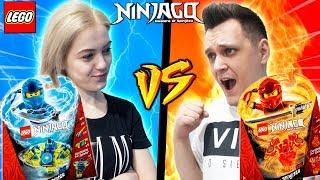 PIORUN VS OGIEŃ | LEGO NINJAGO SPINJITZU  | Vito vs Bella
