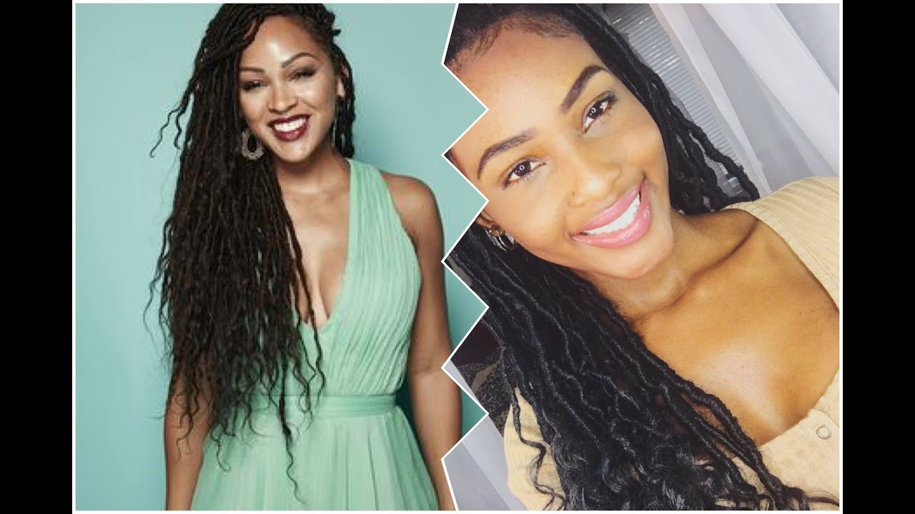 Meagan Good Inspired Faux Locs Tutorial Youtube