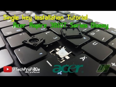 How to replace a key on Acer Aspire laptop keyboard Repair Tutorial