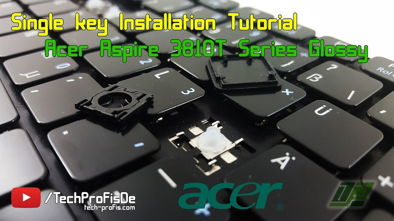 how to replace a key on acer aspire laptop keyboard repair tutorial youtube [ 1280 x 720 Pixel ]