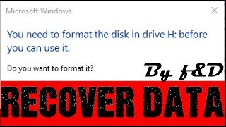 You need to format the disk in drive before you can use it Fixed using TestDisk