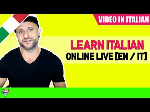 Live Italian Practice  [Beginner / Intermediate] (Show in English & Italian)