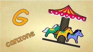 Alfabeto italiano per bambini canzone - La lettera G canzone / Impara canzoni l'italiano per bambini