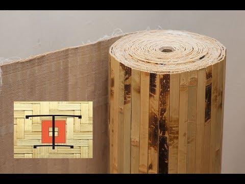 Бамбуковое полотно Дизайн Тропик / наклейка, монтаж