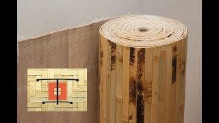 видео Пробковое покрытие для стен и пола в Леруа Мерлен, фото интерьера
