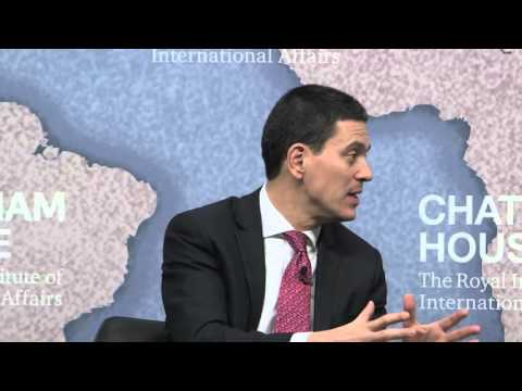 Event Speech: David Miliband on Syria's Crisis: Victims, Culprits and Next Steps