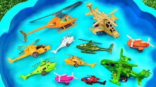 Toy Helicopters For Kids | Learns Colors and Names of Helicopter Vehicles Toys for Kids and Children