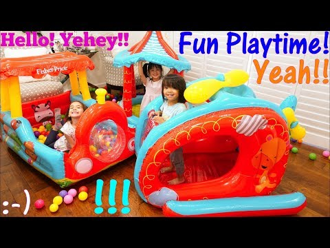 Toys: Ball Pit Play Sets. Pool of Plastic Balls! Inflatable Play Tent Playtime. Fidget Spinners!