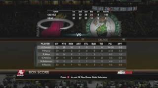 NBA 2K10 Miami Heat vs Boston Celtics - Playoff Game 1 Box Score