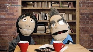 Meet the Robin Ince & Brian Cox puppets
