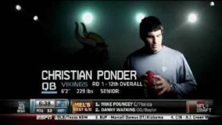Christian Ponder - Minnesota Vikings #12 Draft Pick - Video roundup