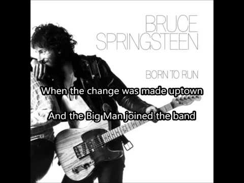 TENTH AVENUE FREEZE-OUT - Bruce Springsteen (LYRICS ON SCREEN)
