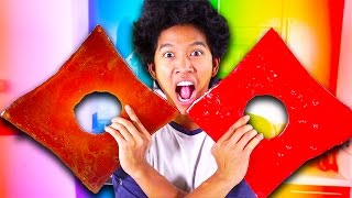 GIANT CANDY NINJA STARS!!! GIANT ROBLOX LOGO!! DIY HOW TO MAKE!!!