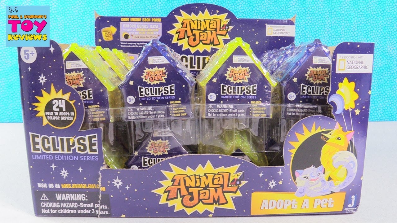 sharp jinx animal jam. animal jam eclipse adopt a pet limited edition series toy review | pstoyreviews sharp jinx youtube