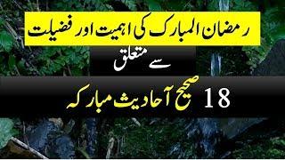 Hadees Ki Roshani Mein Roze Ki Fazilat aur Ahmiyat  | 18 Hadees about Ramazan [ URDU - HINDI]